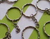 10pcs key ring and chain supplies