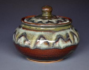 Mahogany Swirl Pottery Sugar Bowl Ceramic Sugar Bowl Stoneware Sugar Bowl Pottery SugarJar B