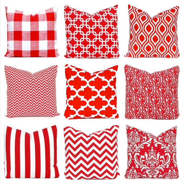 Red Pillow Covers Red Decorative Pillow by CompanyTwentySix