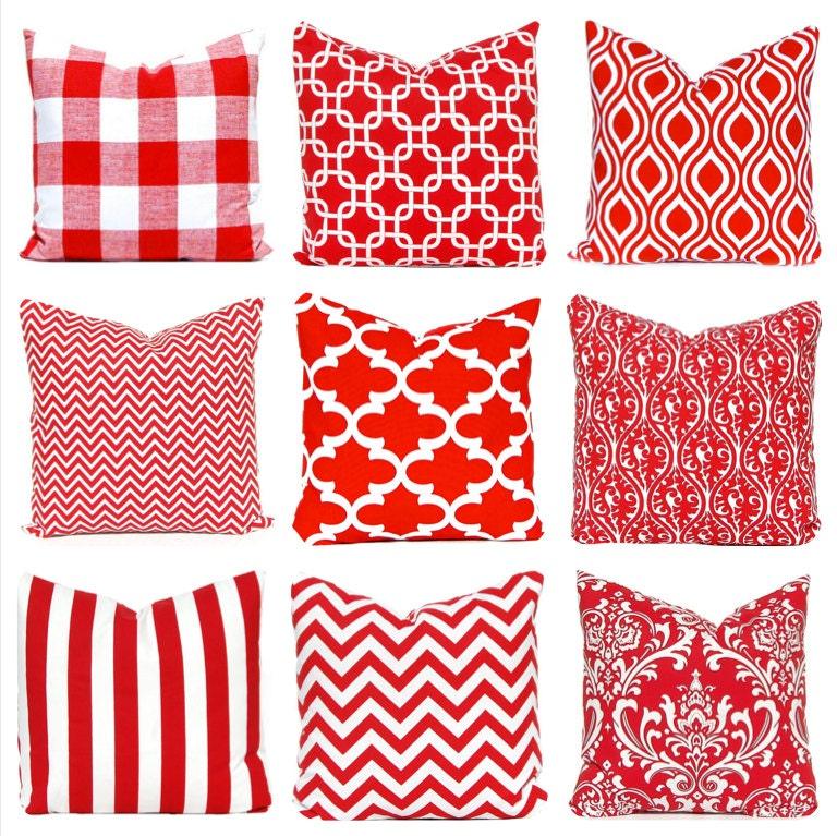 Decorative Pillow Cover Mcqueen Red Multi : Red Pillow Covers Red Decorative Pillow by CompanyTwentySix
