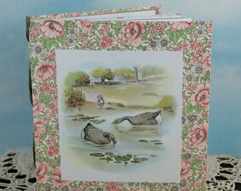 Alexander the Gander Two Geese Memory Journal with 1943 Children's Book Illustration on Cover