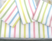 VINTAGE SHEET Fat Quarter Pastel Pastels Stripe