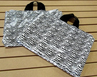 ZEBRA Print 20 Pack Soft Loop Handle Bags (16 x 11.5 in.) // BOUTIQUE CHIC //