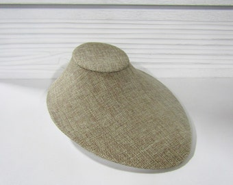 """3 1/2"""" H Linen Necklace Display"""
