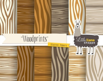 50% Off - Faux Bois Wood Digital Paper, Wood Grain Scrapbook Paper Pack, INSTANT DOWNLOAD, Commercial Use, 8.5 x 11 and 12 x 12