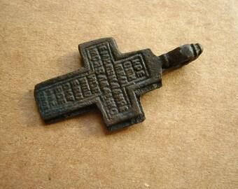 Vintage Original bronze Christianity Russia Body Cross