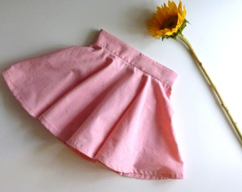 Little Girl's Organic Cotton Pink Twirl Circle Skirt