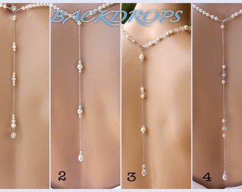 Necklace Back Drop, Backdrops, Back Necklace, White Gold, Gold, Rose Gold Back Drop