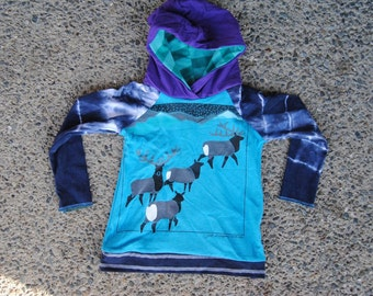 Upcycled Cariboo Hoodie size 2/3