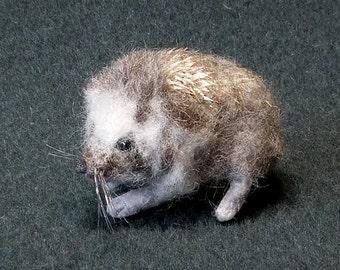 Hedgehog Realistic Needle Felted Shoulder Pet