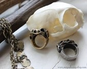 Reserved for TragicallyAdorned Miyu Decay Geminus Ring in Silver