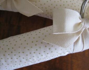 Baby Hangers, Blush & Gold Baby Hangers, Baby Girl Hangers, Baby Shower Gift, Padded Hangers, Girl Covered Hanger, Display Hangers Sets of 3