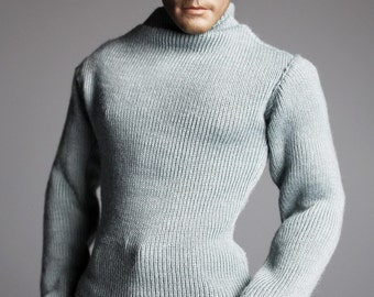 mc0255 Men's Fashion Design Relax Milky Green Long Sleeve Jumper for 1/6 Action Figure