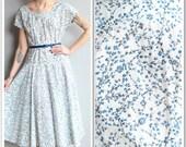 1950s Dress // Whispering Willow Dress // vintage 50s dress