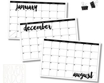 """12-month calendar // 12x18"""""""