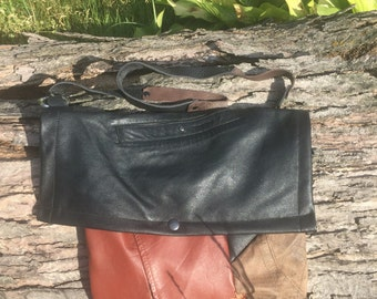Scrap Leather Hobo Bag