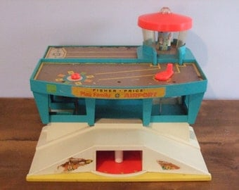 Vintage Fisher Price Play Family Airport Building