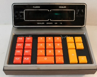 unisonic 21 vintage electronic card game calculator