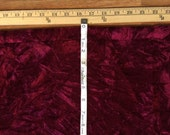 "1 YARD Plus 29""  Burgundy Wine Crimson crushed (non-stretch) velvet material fabric SCA pillows Christmas stockings craft sewing Krampus F20"
