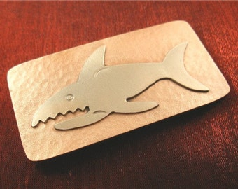 Father's Day Gift for Him, Shark Money Clip, Father Gift for Men Money Clip MC235