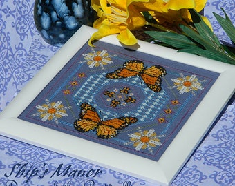 Dance of the Butterflies PDF Cross Stitch