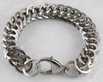 Bold Stainless Steel Square Wire Persian 4 in 1 Bracelet
