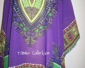 "Purple Dashiki African print Chiffon per yard or panel 36""x60"" inch/ Purple Ankara Chiffon/ Angelina Chiffon fabric"