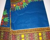 2 Yards Dashiki fabric per panel Dark Blue dashiki fabric/ Dashiki clothing/ African Dashikis/ Dashiki Bags/ Kitenge fabric/ Dashiki panels
