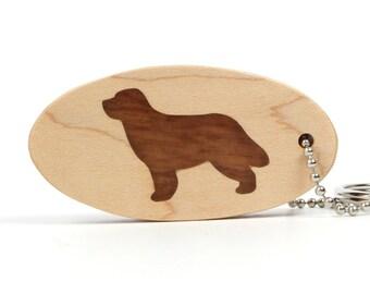 Newfoundland Key Fob, Wood Dog Keychain, Newfie Accessories, Wood Dog Breed Key Ring, Pet Key Chain, Newfoundland Dog Key Fob, Sapele