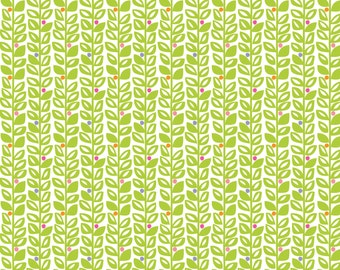 Sundaland Jungle - Climbing Vines in Green by Katy Tanis for Blend Fabrics