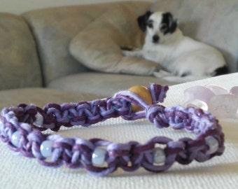 hemp bracelet/purple bracelet
