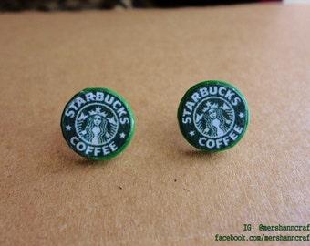 Starbucks Earrings, Necklace