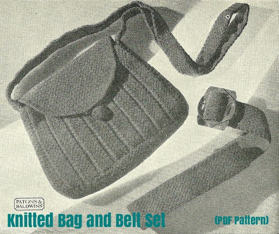Knitted Belt and Bag Set