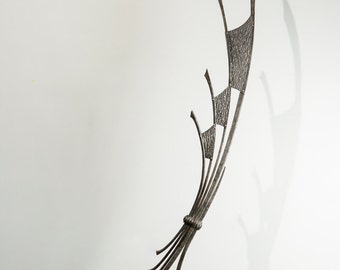 The Wind is Strong, Hand forged sculpture