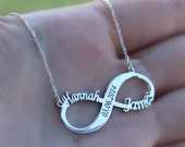 Infinity Name Necklace, Date Necklace, Couple Necklace, Wedding Gift, Sterling Silver, Gift For Wife, Mothers Day Gift, Custom Name, Memory