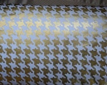 Fabric by the yard Metallic GOLD Houndstooth