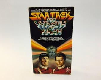 Vintage Sci Fi Book Star Trek: The Wrath of Khan Film Novelization 1982 1st Edition Paperback