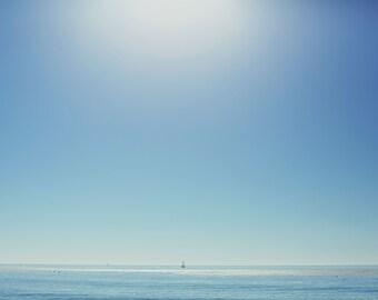 Solitary Travels - Fine Art Photograph, ocean, sea, California, summer, wall art, room decor, landscape, travel photography