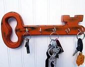 Wood Key Holder, Key Hooks, Cottage decor, Hang different ways, Choice of Colors