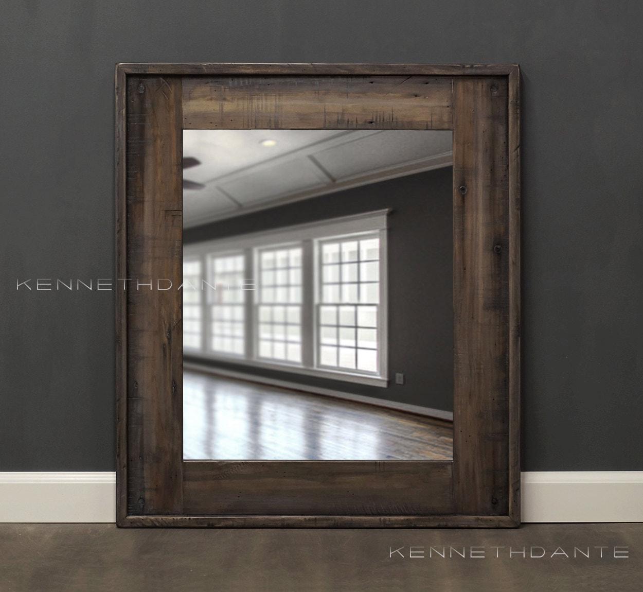 Perfect Reclaimed Wood Bathroom Mirror Rustic Modern Home Decor Framed Mirror