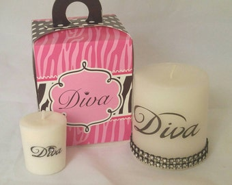 Diva Pillar Scented Candle Gift Set