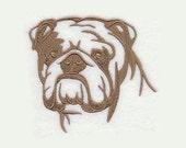 English Bulldog Tea Towel | Personalized Kitchen Towel | Dog Kitchen Towel | Embroidered Tea Towel | Hand Towel | Dog Silhouette