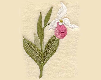 Lady Slipper Tea Towel | Embroidered Kitchen Towel | Embroidered Towel | Kitchen Towel | Embroidered Tea Towel | Personalized Kitchen Towel