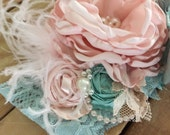 Walk through France flower headband cozette couture