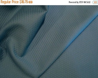 ON SALE Copen Blue Pure Cotton Waffle Pique Fabric--One Yard