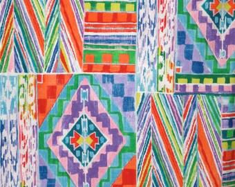 Colorful Ranchera Serape Geometric Print Pure Cotton Fabric--One  Yard