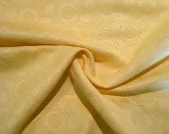 SPECIAL--Banana Yellow Circle Pattern Pure Cotton Jacquard Fabric--One Yard