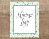 Mimosa Bar Printable Sign, Mint & Silver Glitter Shower Table Sign, 2 Sizes, Wedding Bar Sign, INSTANT DOWNLOAD