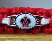 Anaheim Angels Bracelet, Paracord Bracelet, Survival Bracelet