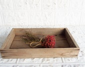 Vintage Wooden Greenhouse Flats . Wooden Box Crate . Industrial Factory Home Decor . Table Box Decoration